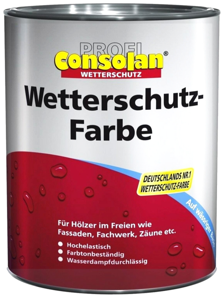 2,5L Profi Consolan Wetterschutzfarbe schwarz