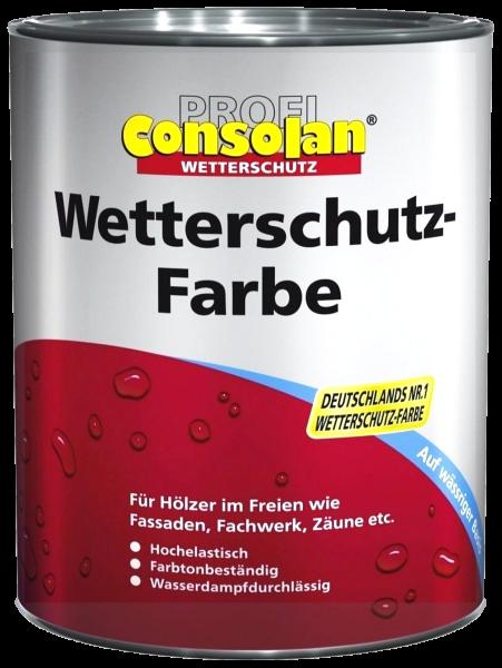 2,5L Profi Consolan Wetterschutzfarbe silbergrau