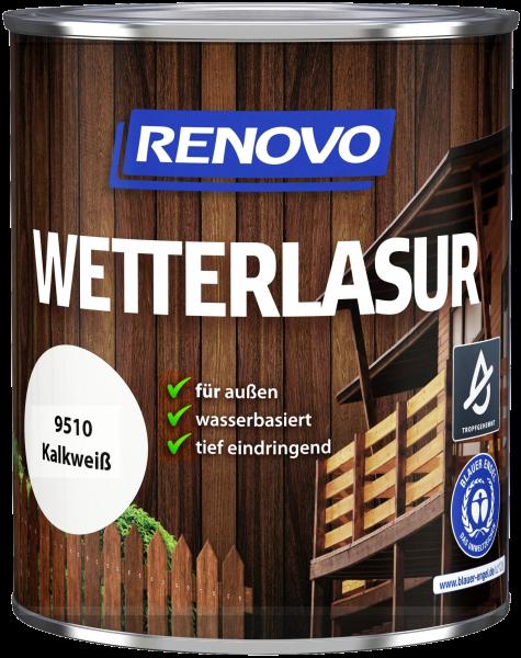 750ml Renovo Wetterlasur wb Nr.9510 Kalkweiss