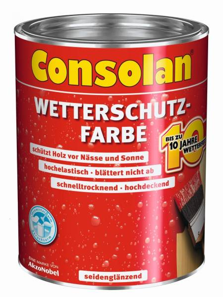 5,0 Liter Consolan Wetterschutzfarbe dunkelbraun