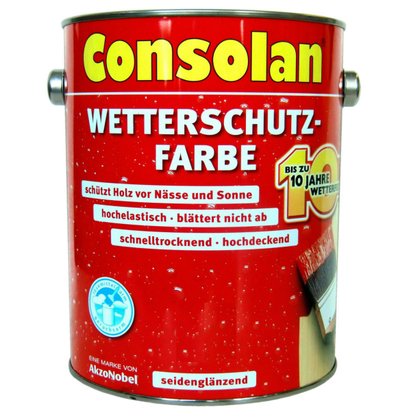 2,5 Liter Consolan Wetterschutzfarbe gelb (203)