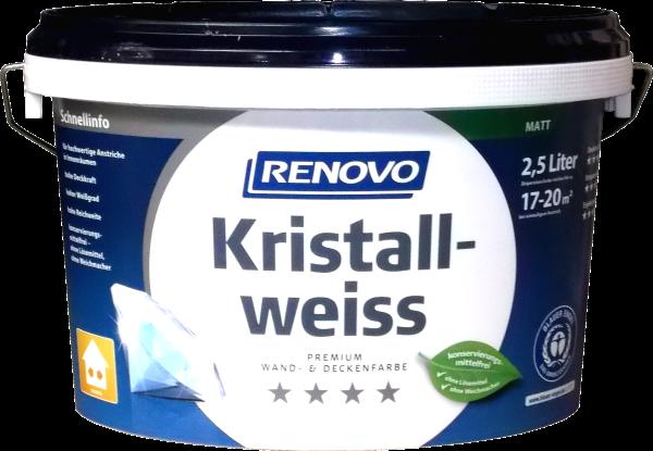 2,5L Renovo Kristallweiß waschbeständig ca.17qm
