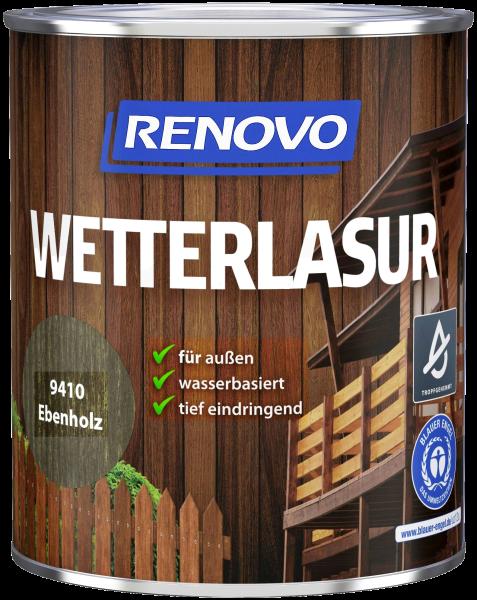 750ml Renovo Wetterlasur wb Nr.9410 Ebenholz