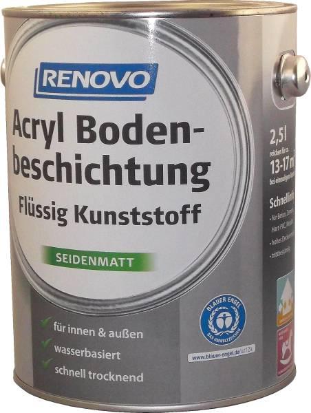 2,5L Renovo Acryl - Bodenbeschichtung silbergrau