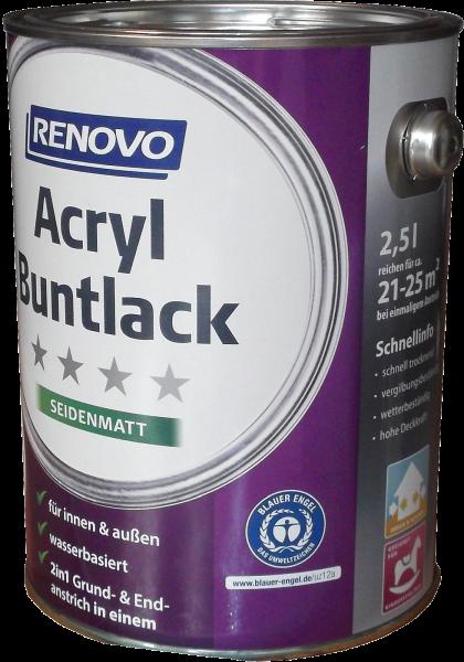 2,5L Renovo Acryl Seidenmattlack Nr.0095 weiss