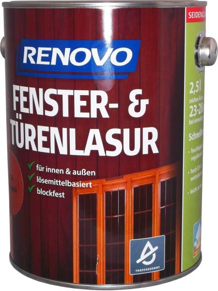 2,5l Renovo Fenster&Türenlasur Nr.1411 kiefer